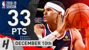 Tobias Harris Full Highlights Clippers vs Suns 2018.12.10 - 33 Points, 8 Reb