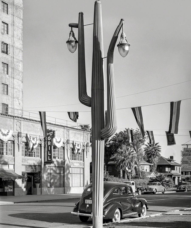 Кактус посреди городской площади: Фонарный столб по-аризонски (США, 1940 год)