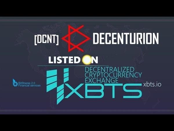Decenturion DCNT Liquid залистился на бирже XBTS DEX!