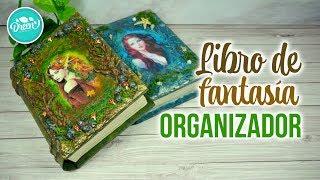 DIY ORGANIZADOR Libro de Fantasía CON CARTÓN | RECICLAJE CREATIVO | DREEN