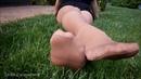 Nude pantyhose legs and feet