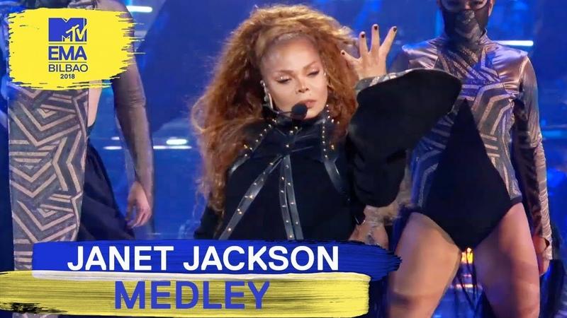 Janet Jackson - Made For Now / Rhythm Nation / All For You Live   MTV EMAs 2018