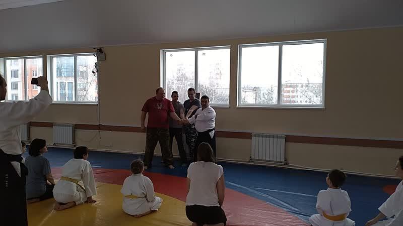 На семинаре по айкидо у Сенсея Рудика