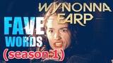 Wynonna Earp FAVE WORDS (season 1)