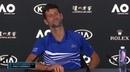 Novak Djokovic and Italian journalist