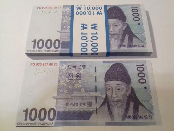 Обзор Билеты Банка Приколов 1000 Южнокорейских Вон