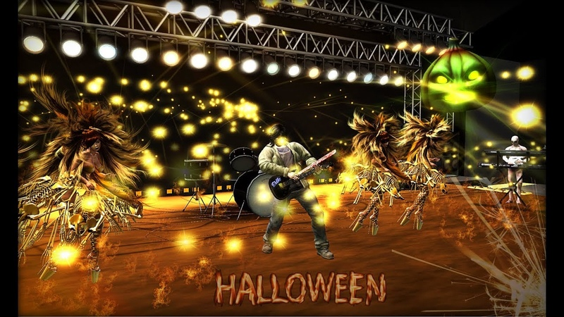 Halloween in Sesto Senso live concert and party show Royal Girls