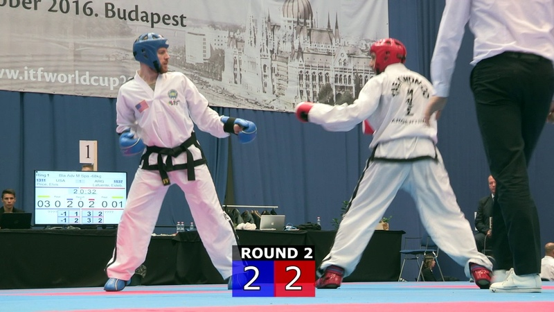 Sparring - Advanced Senior Male -68kg - ITF World Cup 2016 - Budapest