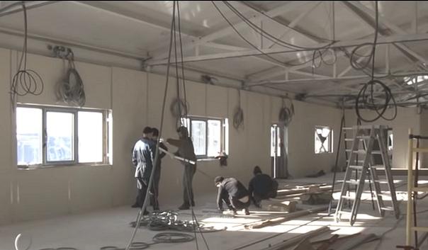 Ремонтные работы в здании аэропорта