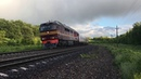 ТЭП70 0414 с пассажирским поездом на перегоне Турдей Волово