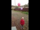 Загадали желание и запустили шарики в небо