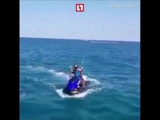 💥Момент взрыва гидроцикла в Геленджике