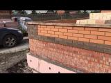 Ростовка. Строительство дома 200 м2. Кладка облицовочного кирпича и технический надзор.