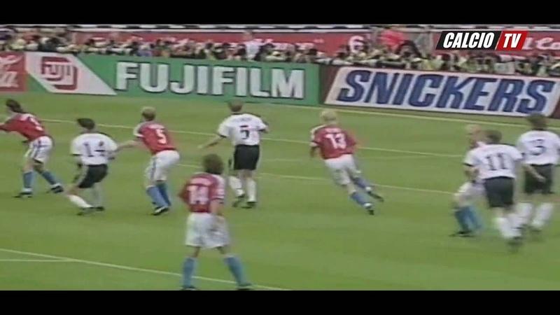 Germany Czech Republic 2 1 UEFA Euro 1996 Final Highlights