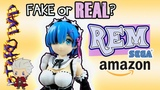 Real or Fake Rem SEGA anime figure claw machine prize from Amazon