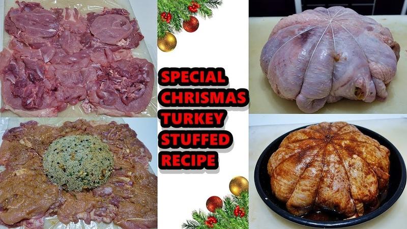 Christmas Turkey Stuffed Recipe Turkish Style Chestnut Rice Filled