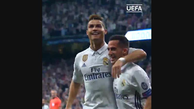 Хет-трик Роналду за Реал в полуфинале ЛЧ-2016/17 с Атлетико