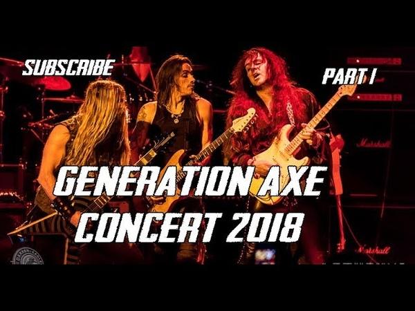 Generation Axe Concert Part 1 ~ Steve Vai, Zakk Wylde, Malmsteen, Bettencourt