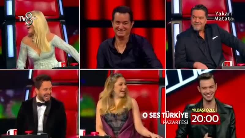 O Ses Türkiye 8 sezon. 2018 Хадисе Hadise Murat Boz Beyazıt Öztürk Seda Sayan