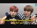JooHyuk Monsta X VLive JooMin 2Lee Jooheon &amp Minhyuk HoneyPup