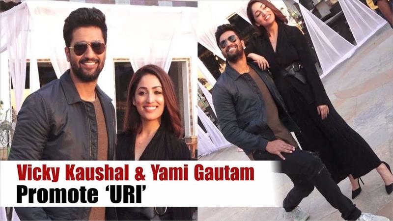 Vicky Kaushal Paresh Rawal Yami Gautam Promote Uri In New Style Movie Promotion