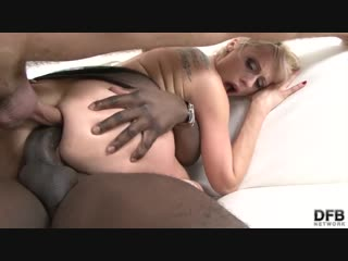 Milf gets double anal (anal blonde dp interracial milf swallow threesome)