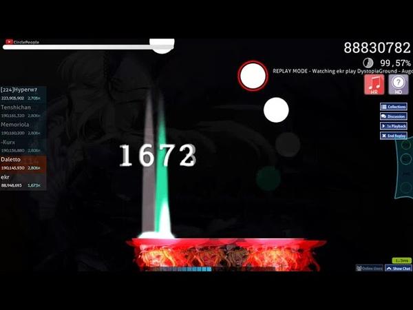 Osu!catch | ekr | DystopiaGround - AugoEidEs [Freezing] HD,HR | 99.51% FC 1 1013pp