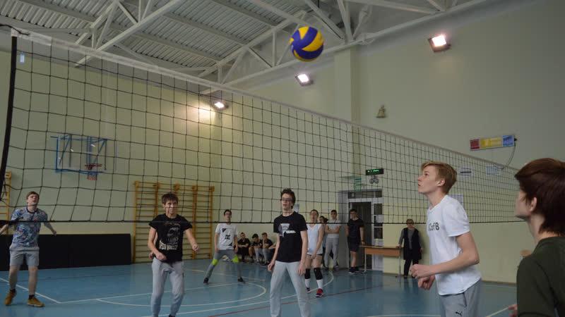 Соревнования по волейболу. Прямая трансляция. 10А vs 10Б.