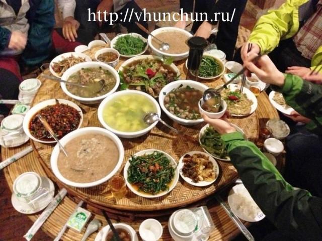 Ужин в Хуньчуне