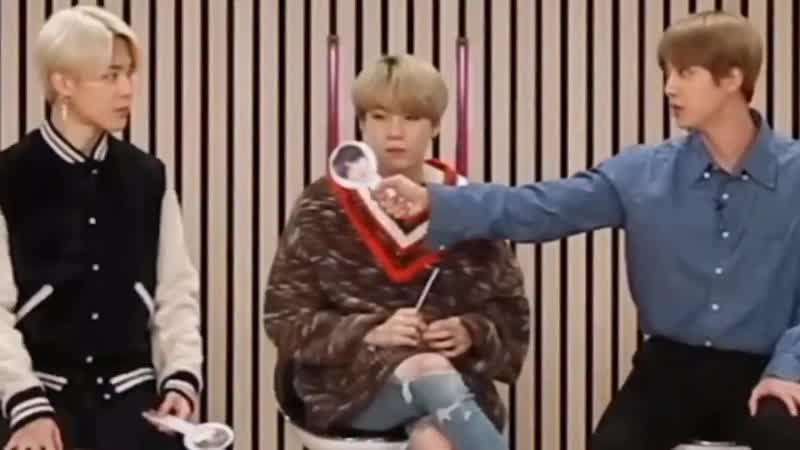 Jin panicked and for a second he forgot jimin's name LOL - - ... name. JIMIN. - are you ki
