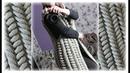 Жилет спицами из азиатских колосков Удлинённый жилет Шиншилла вязаный спицами