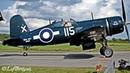 [HD] Supermarine Spitfire, FG-1D Corsair P-51 Mustang taxiing - Aero-Gatineau Ottawa 2018