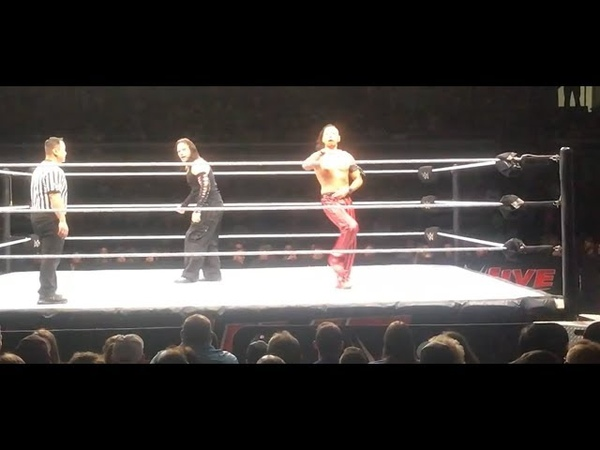 Shinsuke Nakamura And Jeff Hardy Mocks each other WWElive florence