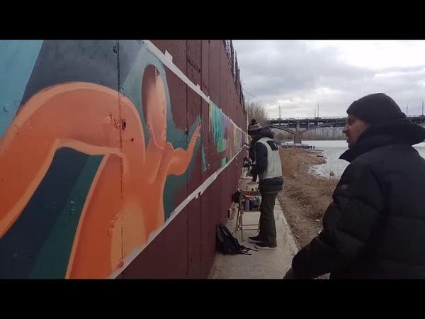 В Красноярске проходит фестиваль уличных художников Крась
