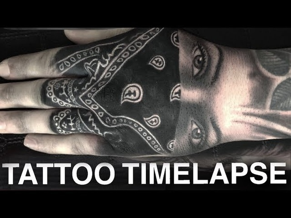 TATTOO TIME LAPSE | GANGSTER GIRL ON HAND | CHRISSY LEE