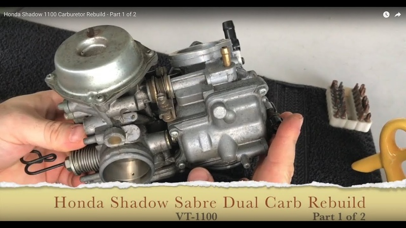 Honda Shadow VT1100 Carburetor Rebuild - Part 1 of 2
