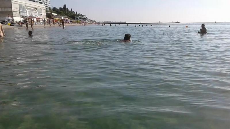 Чистейшая вода 21 июля на побережье...13-й ст.Б-Ф