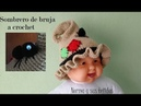 Sombrero de bruja a crochet