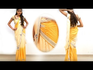 How To Wear Saree In Different Styles For Party & Weddings - half saree Style saree draping.