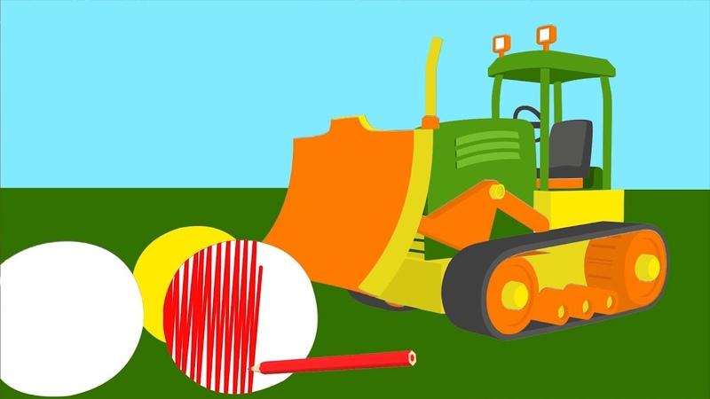Leo il camion curioso dipinge un bulldozer