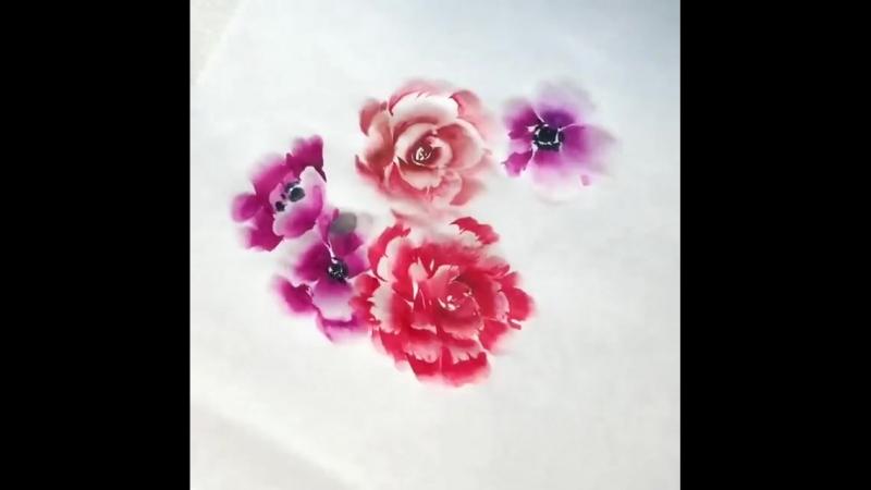 Акварельные цветы. Техника. (720p).mp4