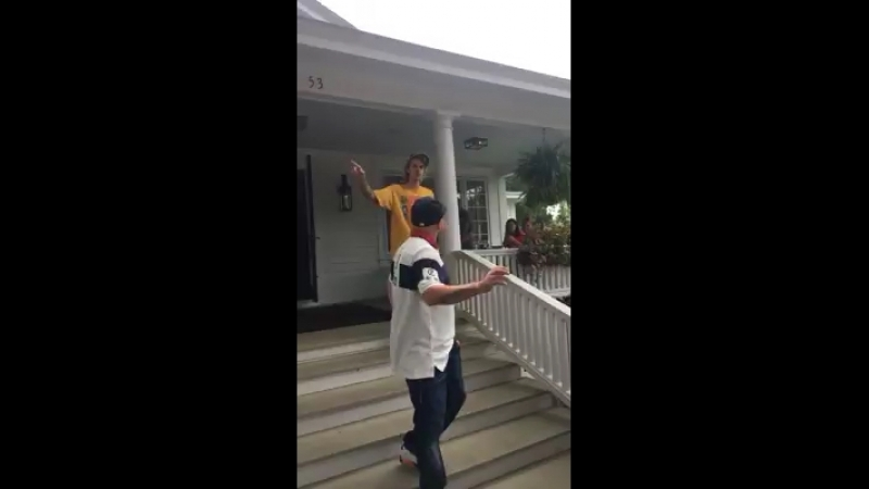 August 19 Another fan taken video of Justin spotted in Skaneateles New York today