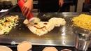 Vừa ăn Teppanyaki vừa xem đầu bếp Nhật biểu diễn như này mới thích