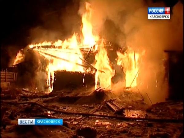 В Пировском районе при пожаре погибла женщина и ее маленький ребенок