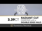 Radiant Cut Engagement Ring with a Double Edge Halo Radiant Cut Diamond For Sheri