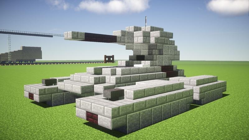 Minecraft Halo Scorpion M808 Main Battle Tank Tutorial