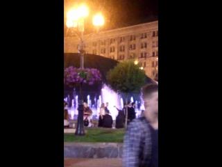 Вечерний Киев Поющий фонтан