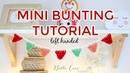 LEFT HANDED CROCHET: EASY MINI BUNTING   Bella Coco Crochet