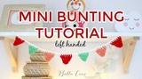 LEFT HANDED CROCHET EASY MINI BUNTING Bella Coco Crochet