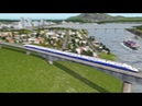 Cities: Skylines - First Person High Speed Rail Train Ride V2